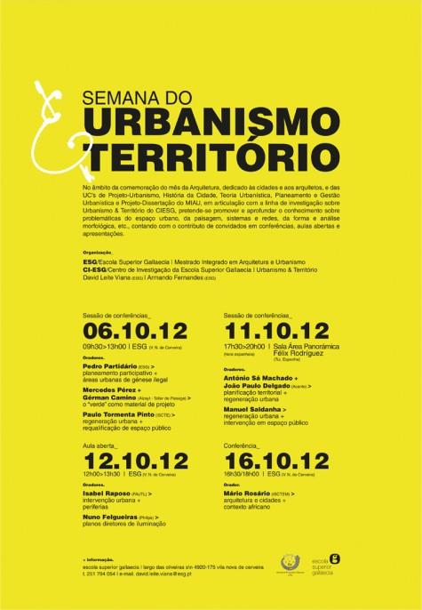 Semana do Urbanismo e o Território (ESG)_2012